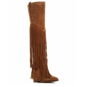 Ash Gipsy Over the Knee Fringe Boots